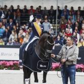 Van Der Vlist Maxime, (NED), Bailey V2 Facility Prijs - Grand Prix U25 Dutch Championship Dressage - Ermelo 2015 © Hippo Foto - Leanjo de Koster 19/07/15